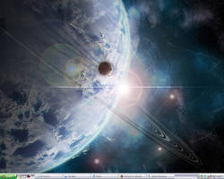 My desktop as off 4:30pm by IceXsainT