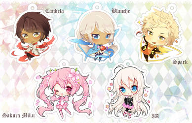 1.5 Clear Acrylic Charms [ON SALE] by Sueweetie