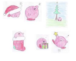 Christmas Kirbies by KewlioMZX