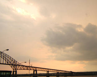 Cloudy Sunset on the Bridge by KewlioMZX