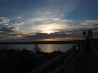 Sunset on the Bridge by KewlioMZX