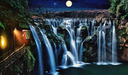 Dream Waterfall by ahcsourav
