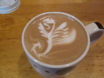 Flying Dragon Latte by MonkDrew
