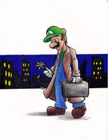 Luigi- There Will be Brawl by Sea-Salt