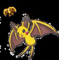Pokemon Fusion - Pikabat by Sea-Salt