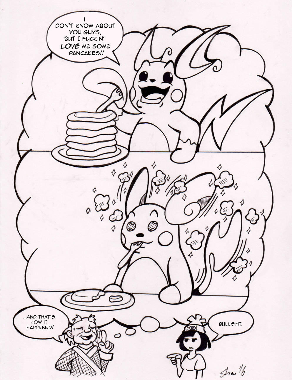 Inktober 2016 - Hungry [Like the 'Chu] by Sea-Salt