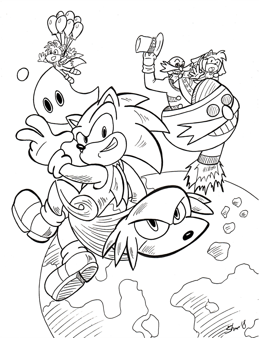Sonictober - 03 - Alternate Universe by Sea-Salt