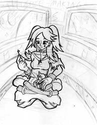 cover art sketch- inked figure by Sea-Salt