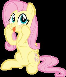 Fluttershy silly face by JetPony