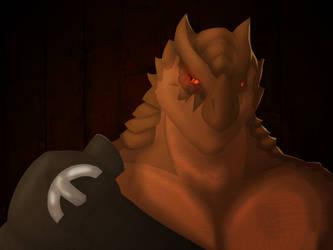 Dragonborn Portrait by BearlyHeroic