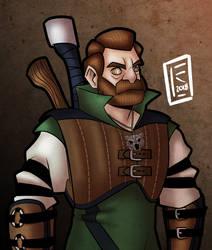 Barak the Ursine Witcher by BearlyHeroic