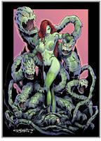 Poison Ivy vs Batman by Killersha