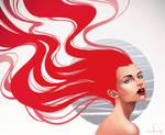 The Girl On Fire by kelogsloops