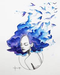 Freedom: Bluebird by kelogsloops