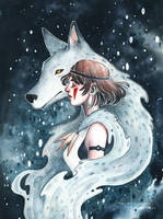 Princess Mononoke by kelogsloops