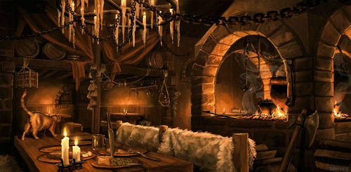 Fantasy Tavern Interior by whatyoumaydo