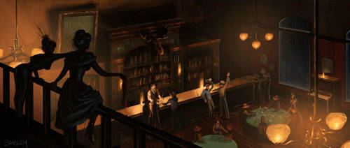 Old West Saloon by whatyoumaydo