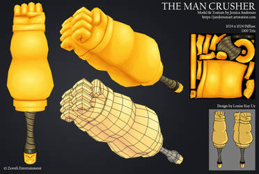 Captain McMuscle's weapon: The Man Crusher by PadawanLinea