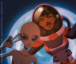 Space Selfie by Sh3lly