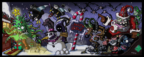 Chirstmas Nightmare by oatmealzombies