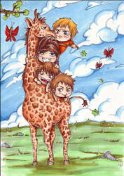 MUCC: giraffe riding by sushihase