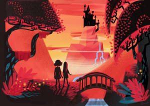 pink fantasy world by Vijolea