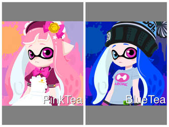 PinkTea and BlueTea~ by Elite-Octoling