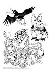 Spirit animals of doom by LordRembo