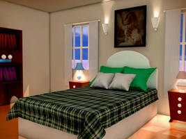 3D Bed room by osmanassem