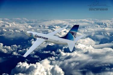 EgyptAir 3d Airplane by osmanassem