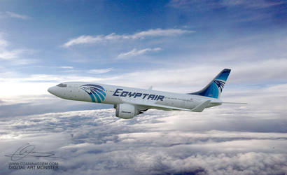 EgyptAir 3d Airplane 04 by osmanassem