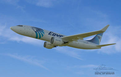 EgyptAir 3d Airplane 05 by osmanassem