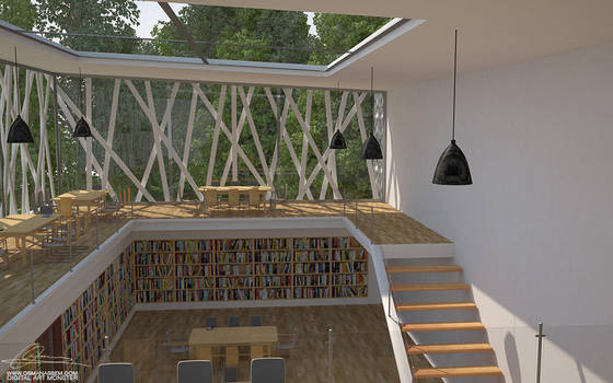 3D  Library Interior by osmanassem