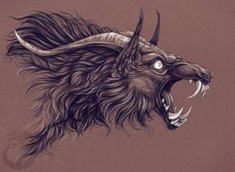 Beast!Dorian 02 by Simkaye