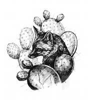 Cactus Fox Ink by Simkaye