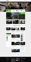 GamesZone Gaming WordPress Theme by DaJyDesigns