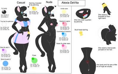 Alexia DeVita: Model Sheet by CottonCatTailToony