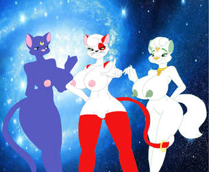 AT: Magical of Three Felines by CottonCatTailToony