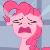 Pony Pinkie Pie Crying Emoticon.