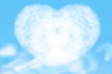 Heart Cloud Background. by catdragon4