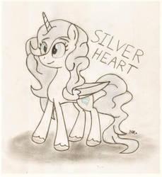 Silver Heart (Brony Artist) by BrogarArts