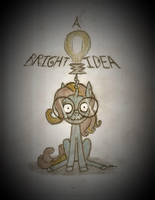 A Bright Idea (Tim Burton Style) by BrogarArts