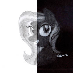 Scribbling with Black and White by BrogarArts