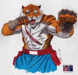 Tiger Sagat by RonAckins