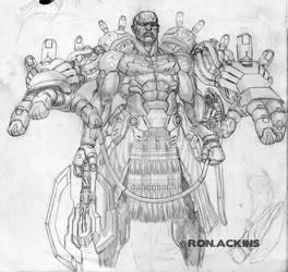 Cyborg Dude by RonAckins