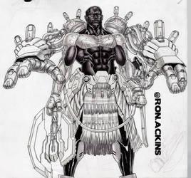 Cyborg Dude Inks by RonAckins
