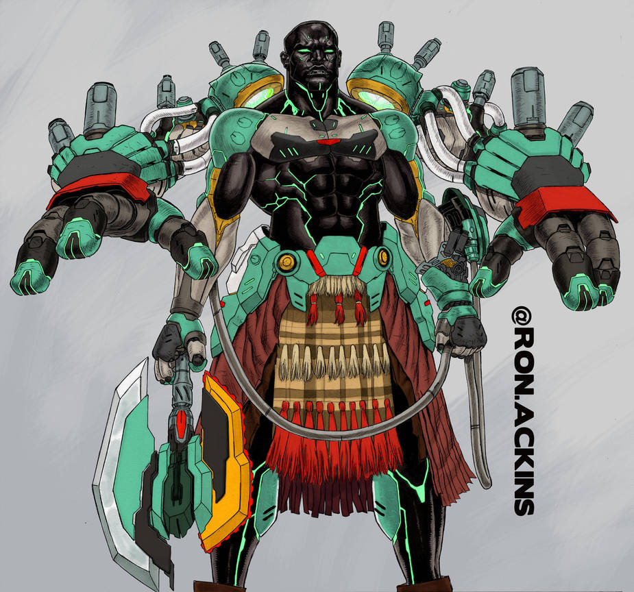 Cyborg Dude Color by RonAckins