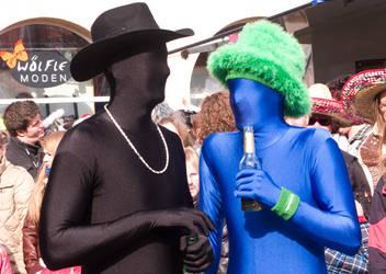 Blue Man Carnival by Abufari