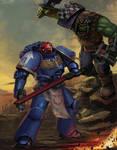 Ultramarine vs Ork by Advisorium