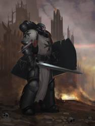 Primaris Black Templar Fan Art by Advisorium